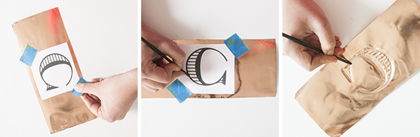 monogram copper candle tutorial