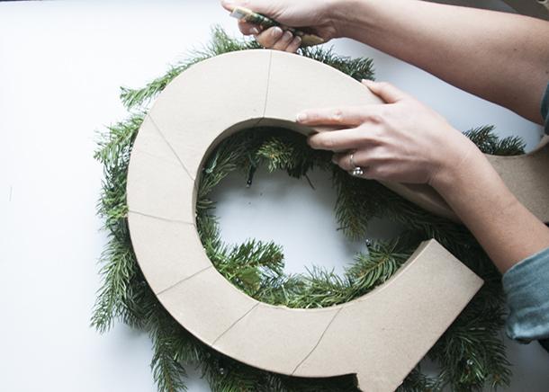 monogram wreath step 2