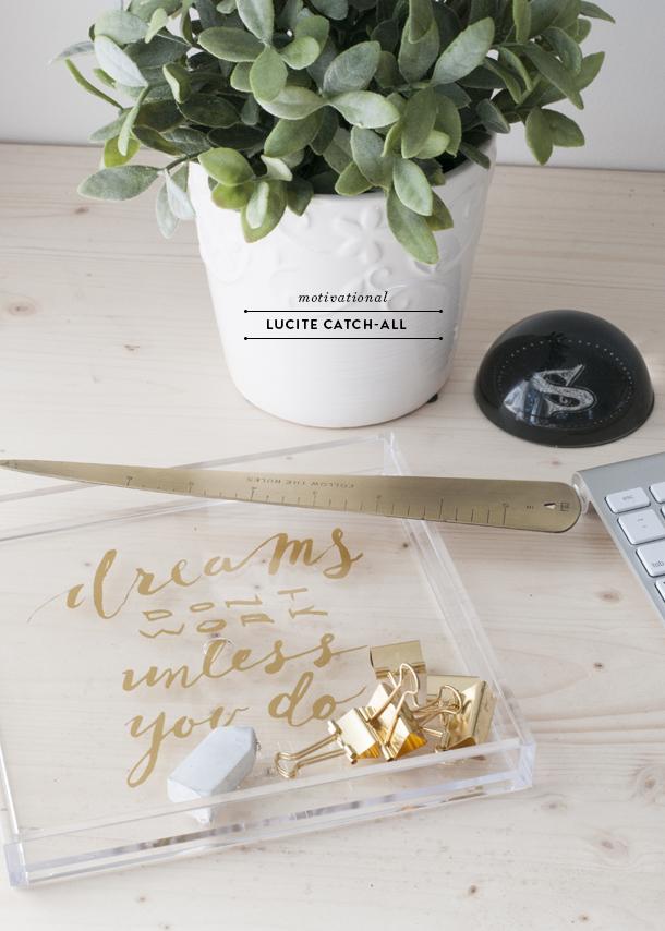 motivational desk accessories diy