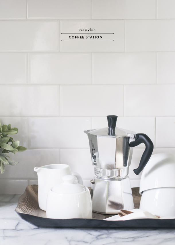 tray chic coffee station
