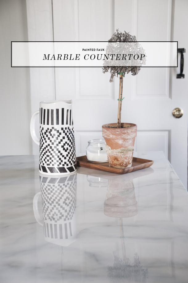 Incroyable Painted Faux Marble Countertops