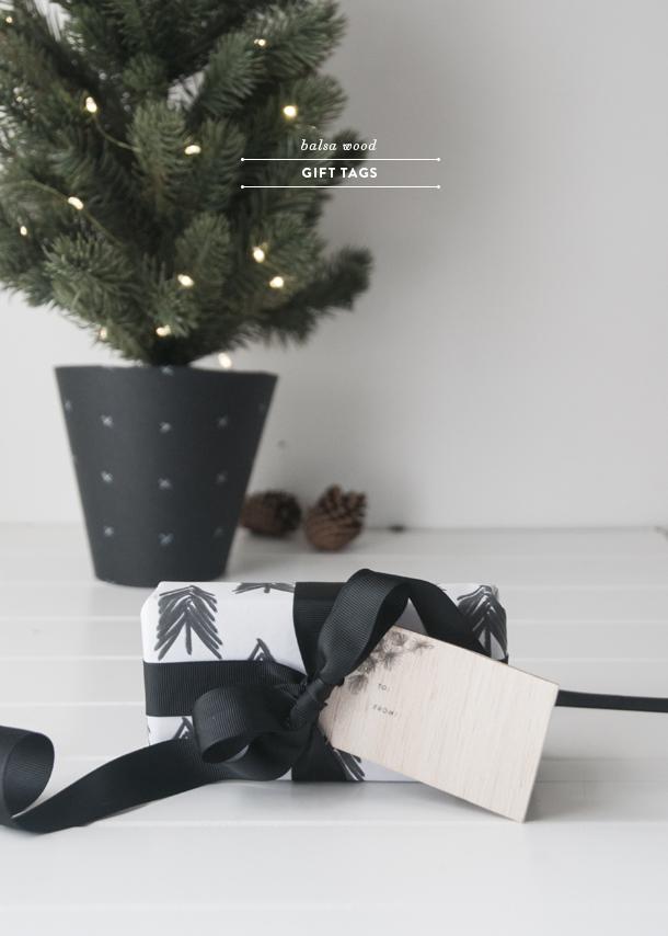 printed balsa wood gift tags