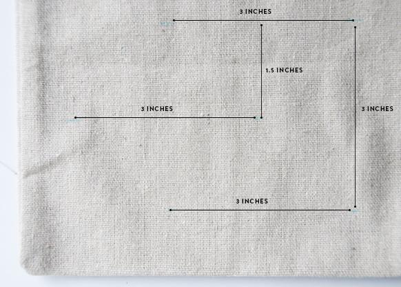 crossstitch pilow measurements
