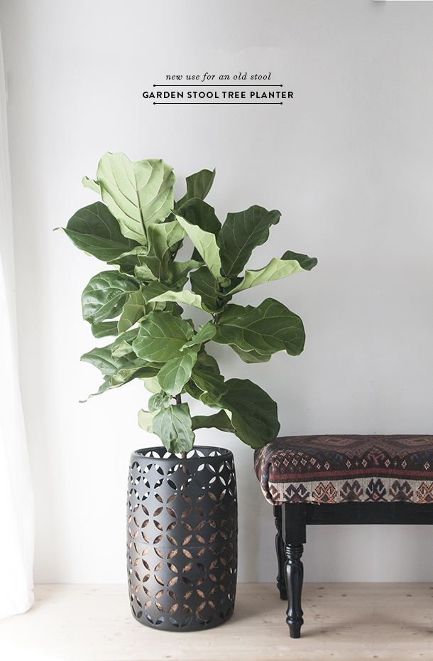 garden stool as a planter