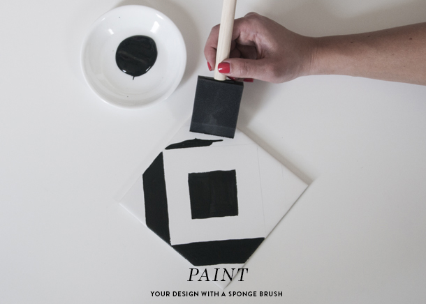 hand painted tile diy