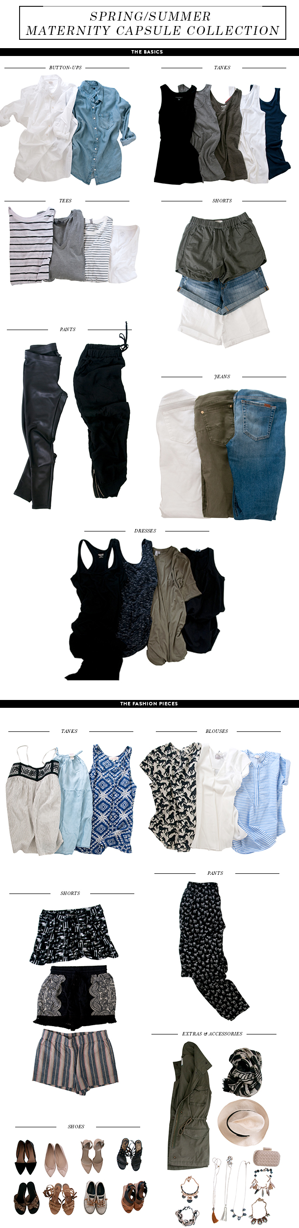 spring summer maternity capsule collection