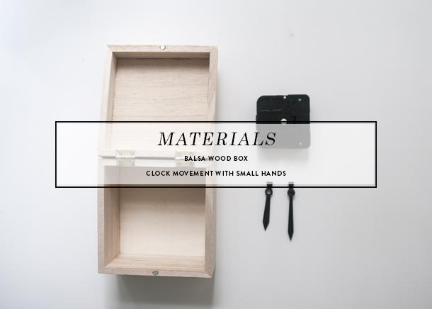 modern block clock diy materials