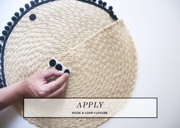 pom pom straw clutch diy step 7