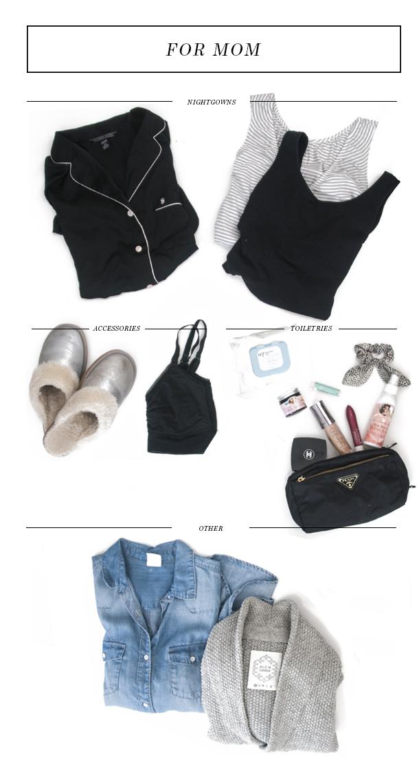hospital bag packing - for mom