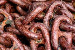 rusty chain links