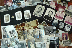 pages of old photographs of family members