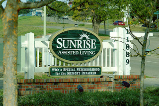 sign for Sunrise Assisted Living facility