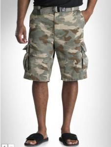 SOCIETY OF ONE RUMPLED CARGO SHORTS