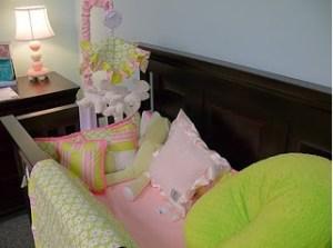 baby pink crib