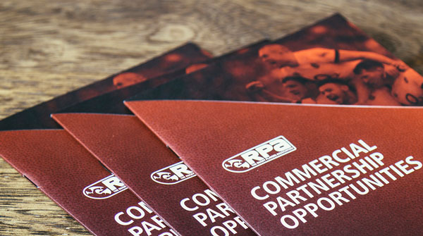 Image of RPA Commercial Partnership Opportunities leaflet. Earnie creative design