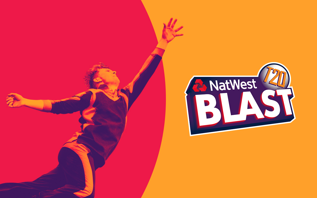 2016 Natwest ECB T20 Blast Creative Example. Earnie creative design