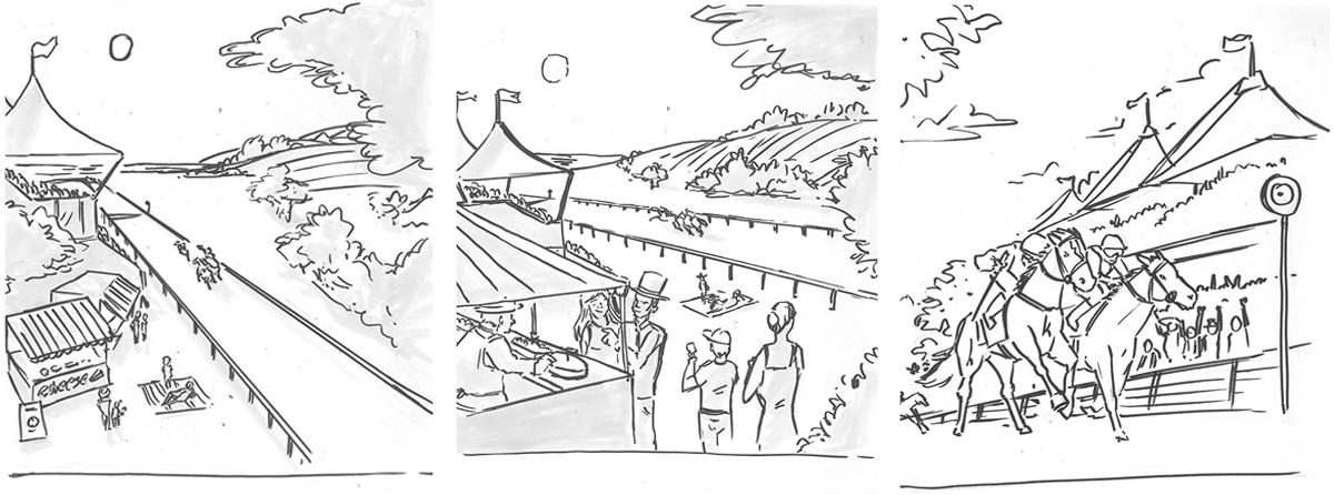 Sketch of goodwood creative. Earnie creative design