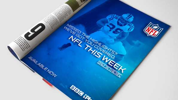 NFL Magazine Ad. Earnie creative design