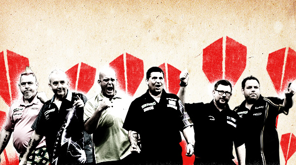 Players and creative for PDC darts. Earnie creative design