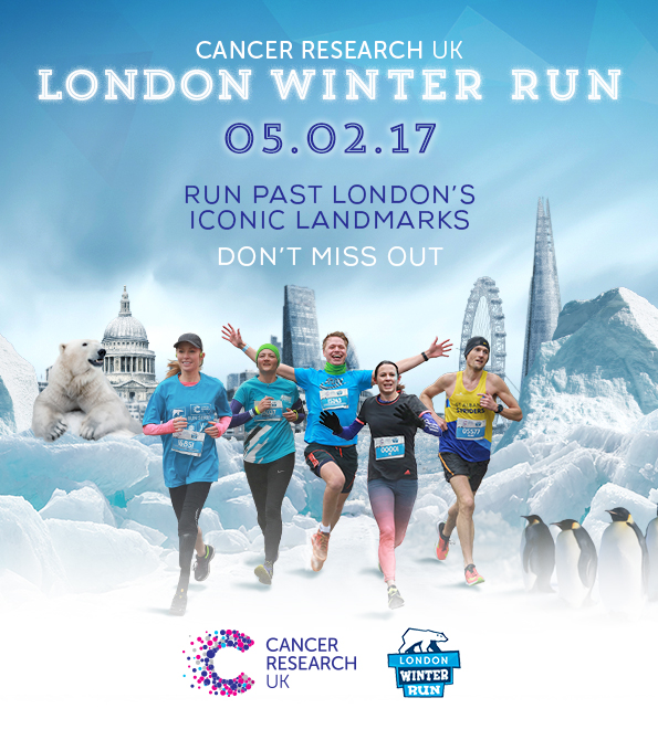 London Winter Run 2017 Ad Example 2. Earnie creative design