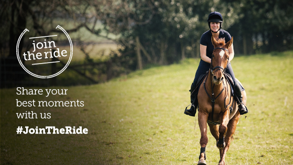 Join the Ride logo with woman riding a horse. Earnie creative design