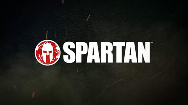 Spartan logo on a black background. Earnie creative design