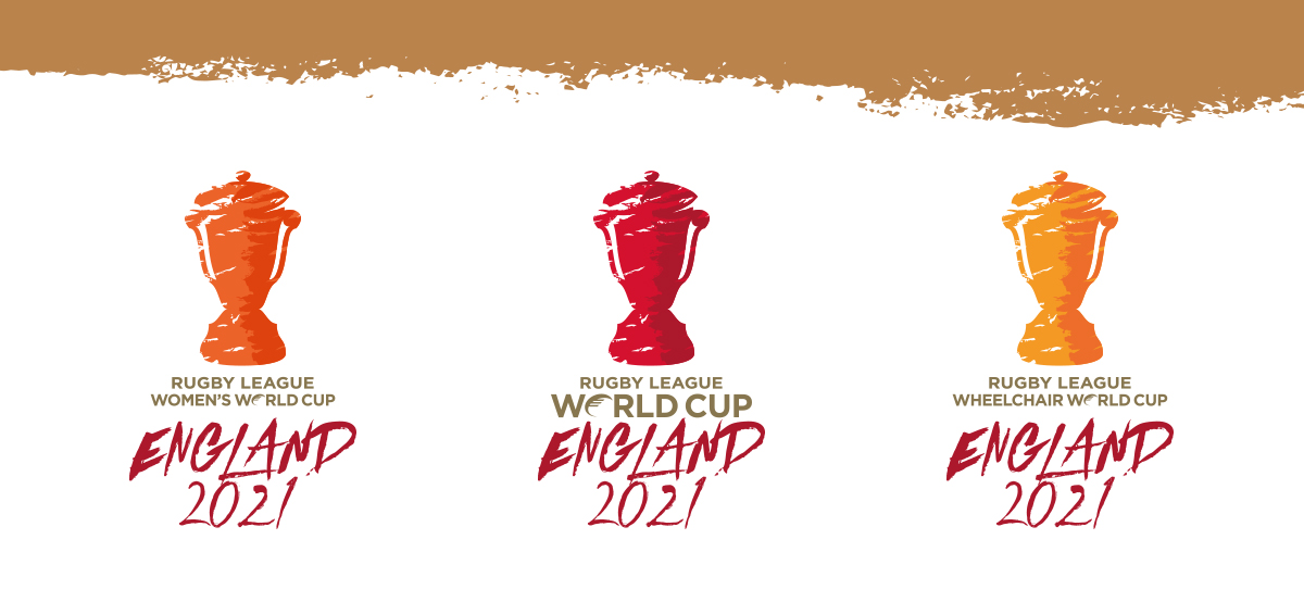 Rugby League World Cup Logo variants. Earnie creative design