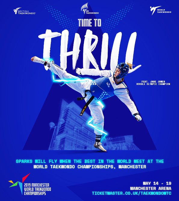 GB Taekwondo- World Championships THRILL creative. Earnie creative design