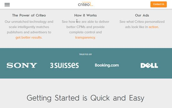 Criteo CPM Ad Networks