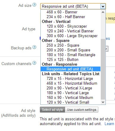 AdSense Responsive Ad Unit
