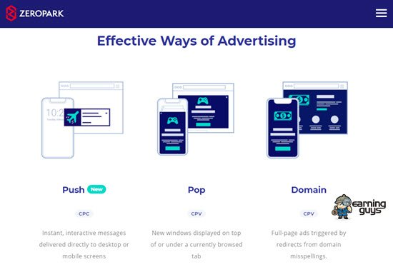 Zeropark Adult Ad Network