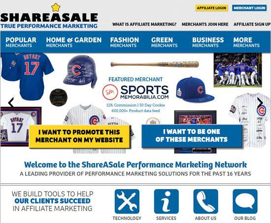 ShareASale Cost Per Sale Network