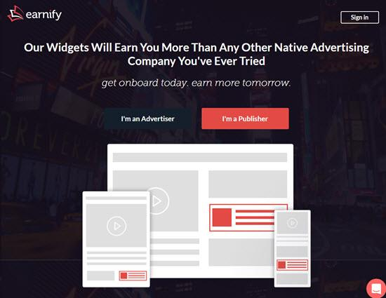 Earnify Native Ad Networks