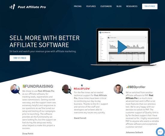 Post Affiliate Pro Recurring Affiliate Program
