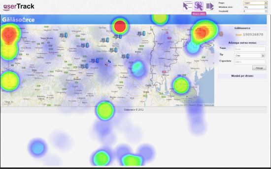 userTrack Heat Map Tools