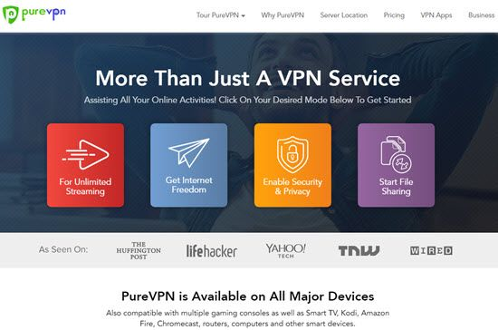 PureVPN Best VPN Service Providers