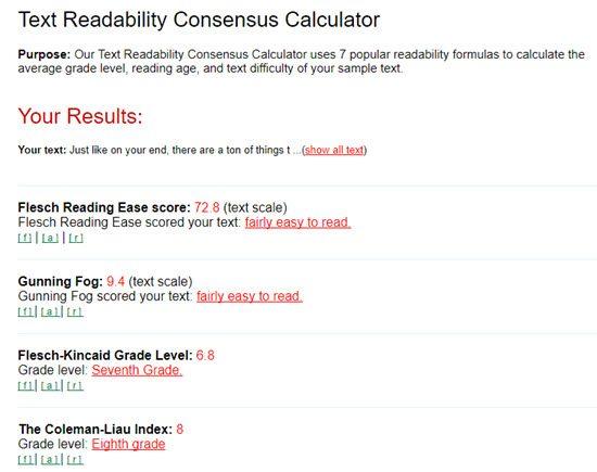 Automatic Readability Checker