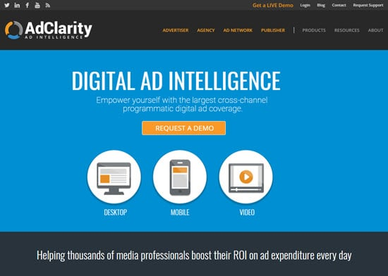 AdClarity media intelligence platforms