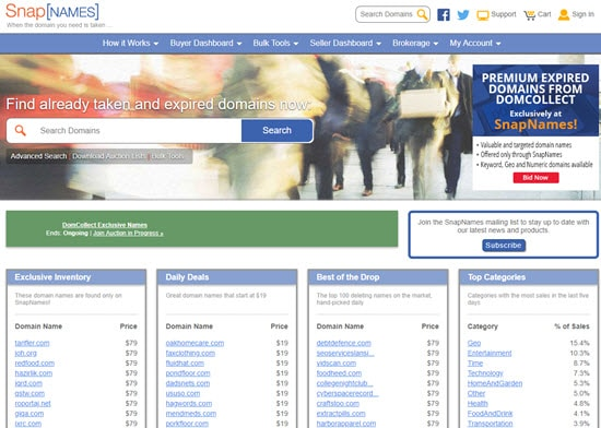 Snap Names Buy Expired Domain