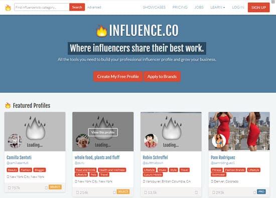 Influence.co Influencer Finder