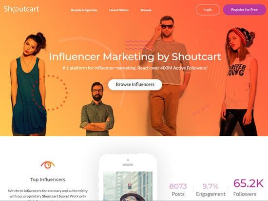Shoutcart Influencer Marketing Tool