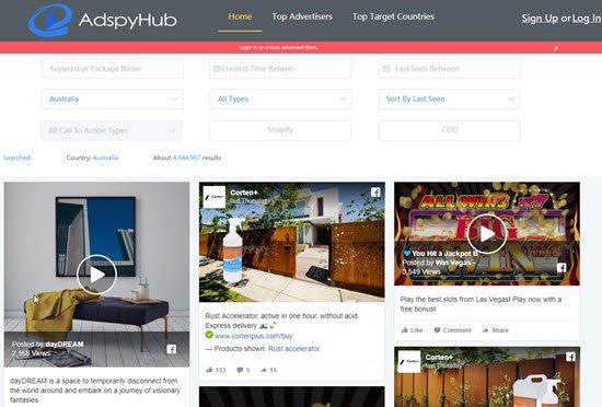 AdSpyHub Facebook Ad Spy Tool