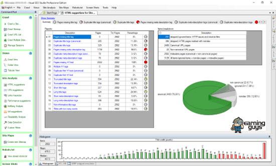 Visual SEO Studio Website Crawler