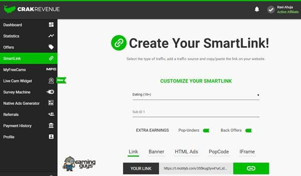 CrackRevenue SmartLink