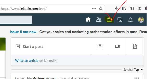 find saved jobs on Linkedin