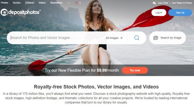 DepositPhotos Stock Photo site