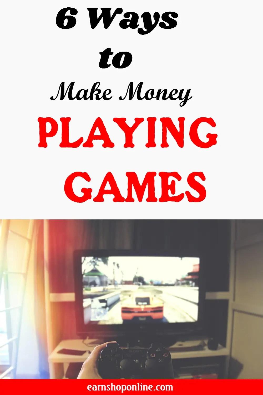 ways to make money playing games