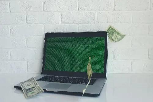 Computer laptop money
