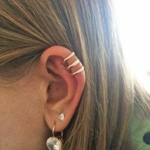 3 Circles Ear Clip Cuff Wrap Men Earrings