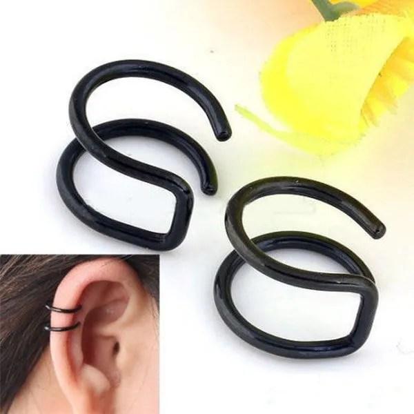 Clip Wrap Non Pierced Men Earrings